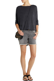 Raquel Allegra Shredded cotton-blend jersey top