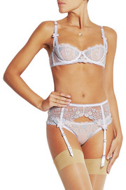 Petunia embroidered tulle underwired bra