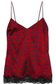 Stella McCartney Ellie Leaping printed stretch-silk camisole