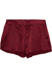 Ellie Leaping printed stretch-silk pajama shorts