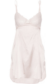 Stella McCartney Mia Loving lace-trimmed stretch-silk chemise
