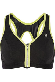 Shock Absorber Active Zipped Plunge mesh and stretch-jersey sports bra
