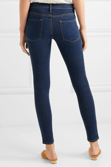 frame le skinny de jeanne mid rise jeans 200 play