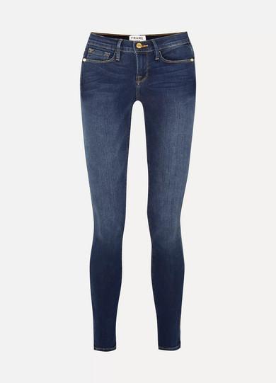frame le skinny de jeanne mid rise jeans net a portercom
