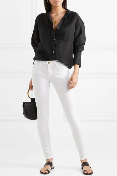 frame le skinny de jeanne crop mid rise jeans net a portercom