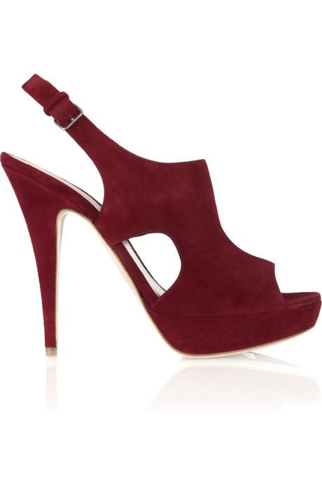 Miu Miu|Suede platform sandals from net-a-porter.com