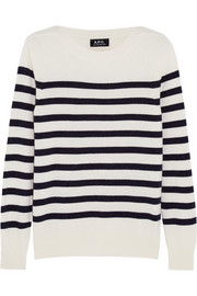 Étretat striped wool and cashmere-blend sweater