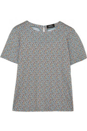 A.P.C. Atelier de Production et de Création Flore printed cotton-jersey top