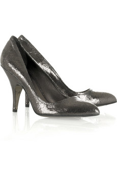 Miu MiuCracked leather pumps