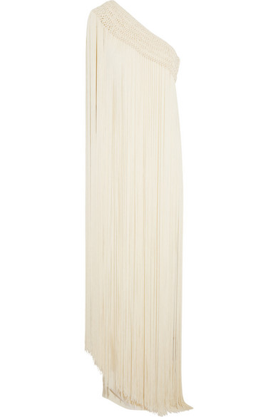 Temperley London Long Tassel Robe aus Seiden-Crêpe mit Fransen