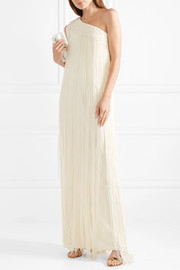 Temperley London Long Tassel fringed silk-crepe gown