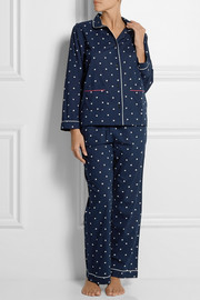 Chinti and Parker Star-print cotton-voile pajama set