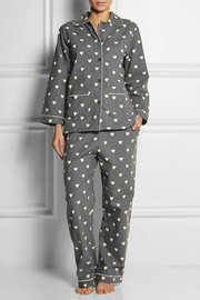 Chinti and Parker Heart-print cotton-voile pajama set
