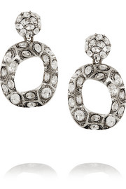 Oscar de la Renta Silver-plated crystal earrings