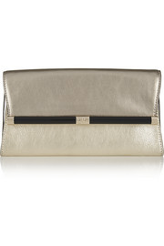 Diane von Furstenberg 440 Envelope metallic leather clutch