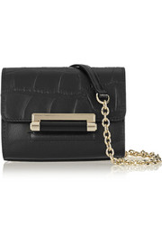 Diane von Furstenberg 440 Micro Mini embossed leather shoulder bag