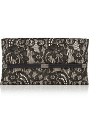 Diane von Furstenberg 440 Envelope lace and crepe clutch