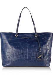 Diane von Furstenberg Sutra Ready To Go large croc-effect leather tote