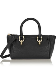 Sutra Mini Duffel textured-leather shoulder bag