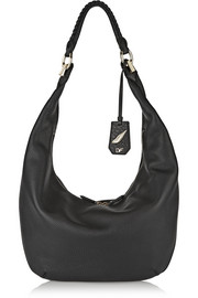 Diane von Furstenberg Sutra Crescent textured-leather shoulder bag