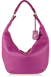 Diane von Furstenberg Sutra Crescent textured-leather hobo bag