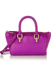 Diane von Furstenberg Sutra Mini Duffel textured-leather shoulder bag