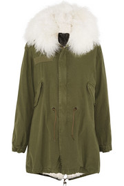 Finds + MR & MRS FURS shearling-lined cotton-canvas parka