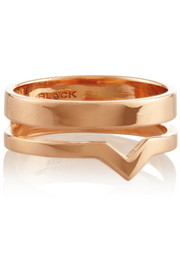 Maria Black Detour rose gold-plated ring
