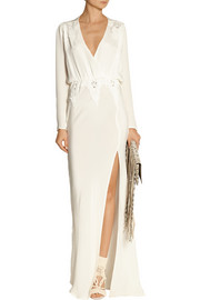 Finds + Stone Cold Fox Alabama lace-trimmed silk gown