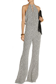 + Stone Cold Fox Louisiana printed crepe jumpsuit