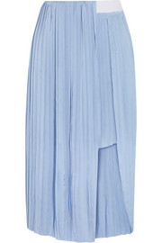 Elba pleated satin skirt