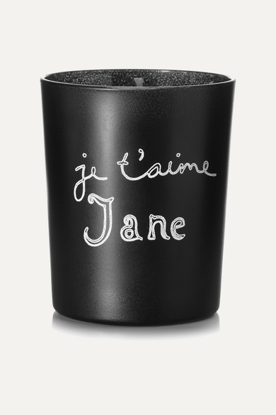 Je T'Aime Jane Scented Candle, 190G in Black