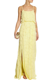 Needle & Thread Constellation beaded crepe maxi dress