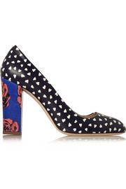Stella printed leather pumps