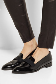 Patent-leather loafers