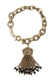 J.Crew Jewelled Tassel gold-tone crystal bracelet