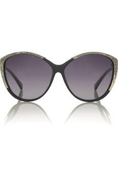 Linda Farrow LuxeLuxe 17 lizard-trim sunglasses
