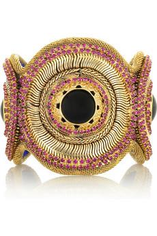 Erickson Beamon Boudica embellished cuff