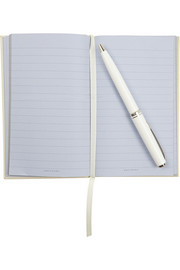 Smythson Wedding and Honeymoon set of two textured-leather notebooks