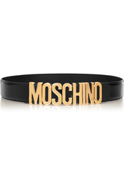 Moschino Olivia embellished patent-leather belt
