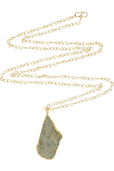 Pippa Small 18 karat gold wrapped pendant