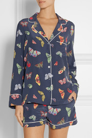Equipment Lilian printed silk crepe de chine pajama set