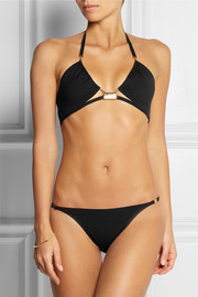 La Perla Eclipse ruched triangle bikini