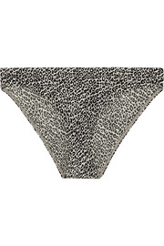 Calvin Klein Underwear Push Positive leopard-print stretch-satin briefs