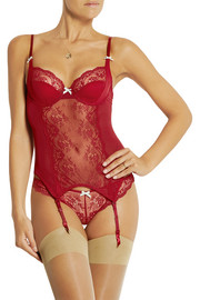 Committed Love mesh and stretch-lace corset