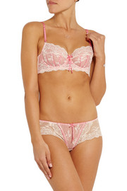 Sofia lace and tulle underwired bra