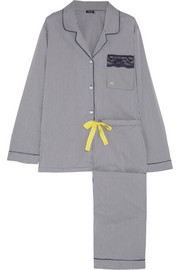 Imprime Vichy gingham cotton-blend pajama set