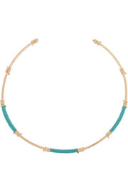 Gold-plated and cotton choker