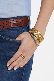 Gold-plated and cotton bracelet