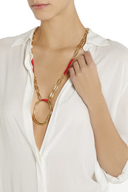 Aurélie Bidermann Gold-plated and cotton necklace